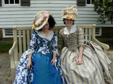 Lindsey Eastman and Sarah Lorraine in 18th century costumes