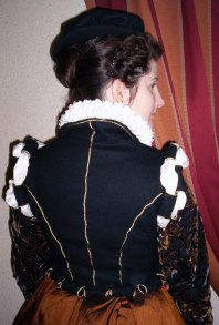 Back view of 16th century doublet.