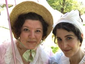 Regency selfie with Mrs. Stitch.